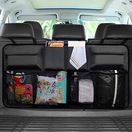 Organizador para maletero de coche, bolsa de almacenamiento para asiento trasero de coches con Oxford lavable, organizador plegable para maletero de ...