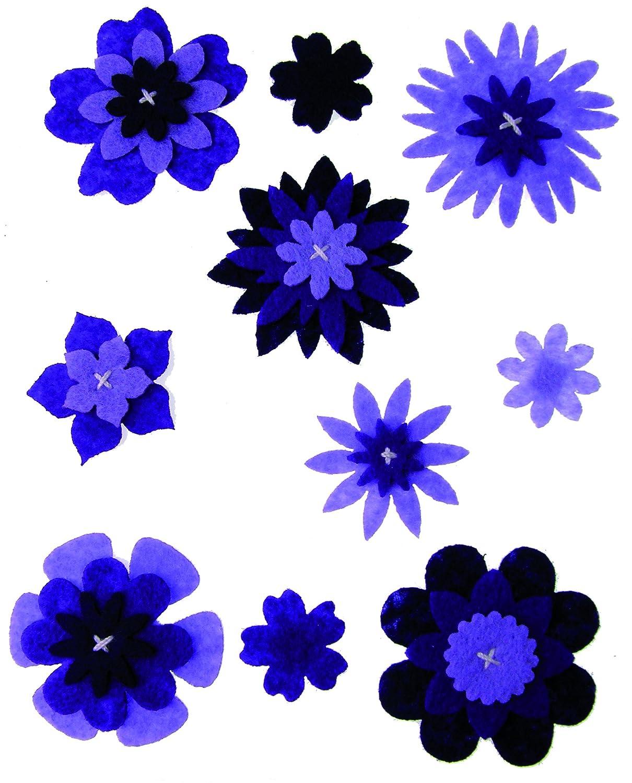 Craftime AC0135V Colour Connection Felt Flowers, Purple