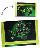 """Geldbörse """" Teenage Mutant Ninja Turtles """" - Geldbeutel & Portemonnaie für Kinder - Geld Buskarte Geldtasche / Jungen - Turtle Leonardo Donatello / Raphael - grüne"""