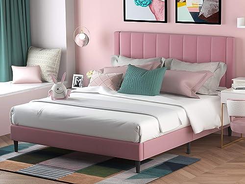Allewie Queen Size Platform Bed Frame
