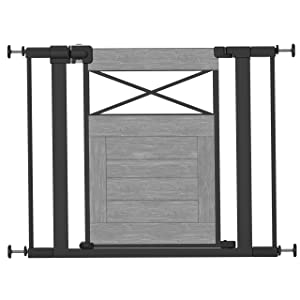 Safety 1st Easy Install Modern Farmhouse Gate, One Size