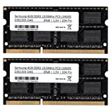 Samsung 8 GB (2x 4 GB) Dual-Channel Kit DDR3 Memory Module 1333 MHz (PC3 10600S) SO-Dimm Memory Module Notebook Laptop RAM Memory