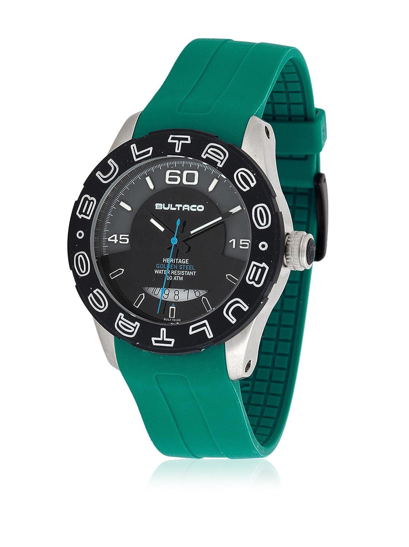 Bultaco Reloj Análogo clásico para Hombre de Cuarzo con Correa en Silicona H1AP43S-GG1-V: Amazon.es: Relojes