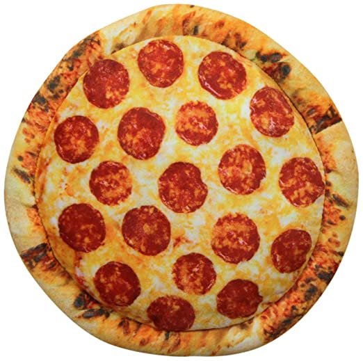 Novedad cojín con forma de pizza pepperoni Toppings ...