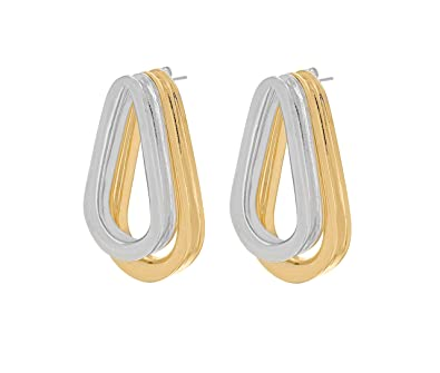 Annelise Michelson Double Ellipse Gold Earrings eAmCy3ouS