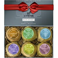 ArtNaturals Bath Bombs Gift Set - Ultra Lush Essential Oil - Handmade Spa Bomb Fizzies - Organic and Natural Ingredients, Shea Butter for Moisturizing Dry Skin Relaxation in a Box, 4.1 oz, 6 Count