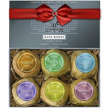 ArtNaturals Bath Bombs Gift Set   (6 X 4 Oz)   Ultra Essential Oil