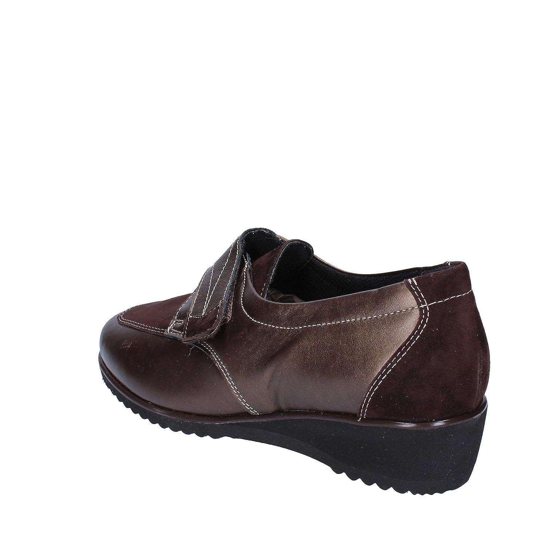 Susimoda Sneakers Damen Beige/Braun Wildleder Lack (40 EU, Beige/Braun)