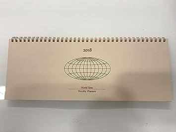 Agenda planificador semanal 2018 con espiral cm 32 x 12 ...