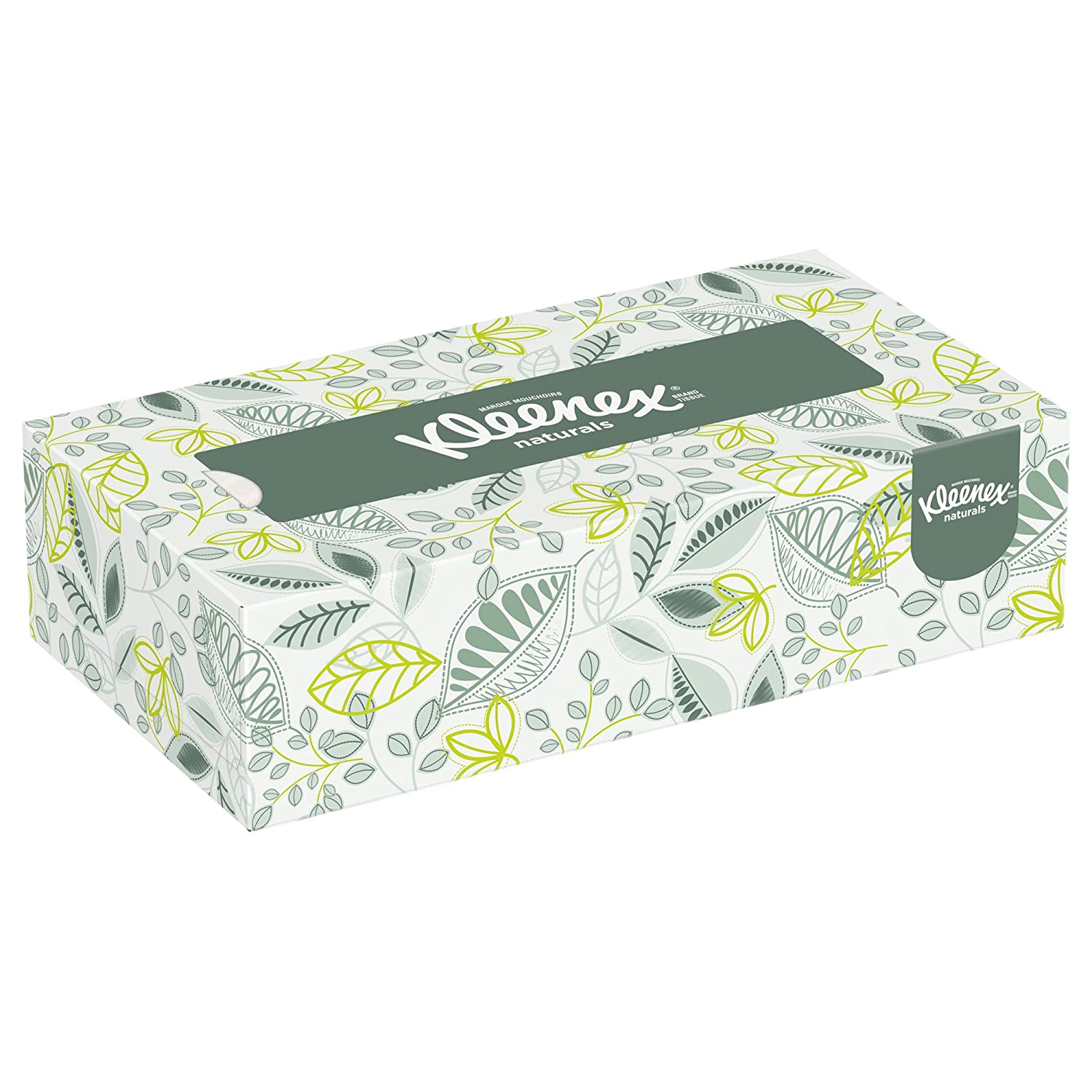Kleenex 21601 Naturals Facial Tissue 2 Ply White 125 per Box Case of 48 Boxes
