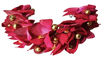7c4ddd7fb1283 Buy Fully Bun Decoration Flowers Gajra, Pink, 30 Grams, Pack Of 1 Online at  Low Prices in India - Amazon.in