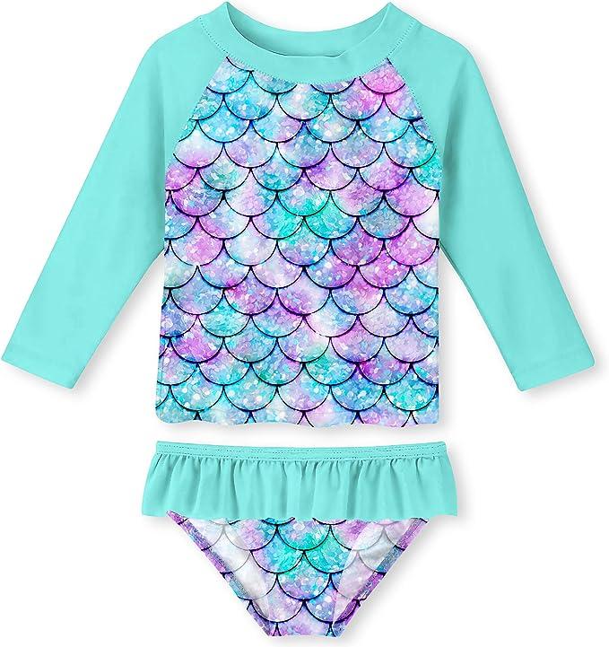 Amazon.com: ALOOCA traje de baño de dos piezas para niñas ...