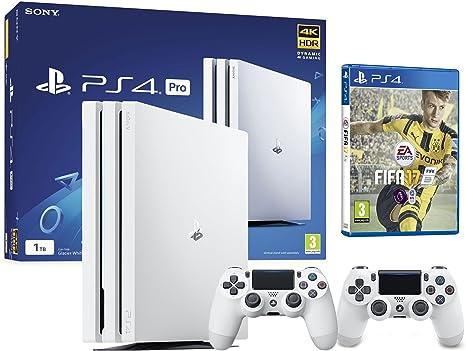 PS4 Pro 2 Mando + FIFA 17 (1TO, Blanca, 2 x DualShock V2): Amazon ...