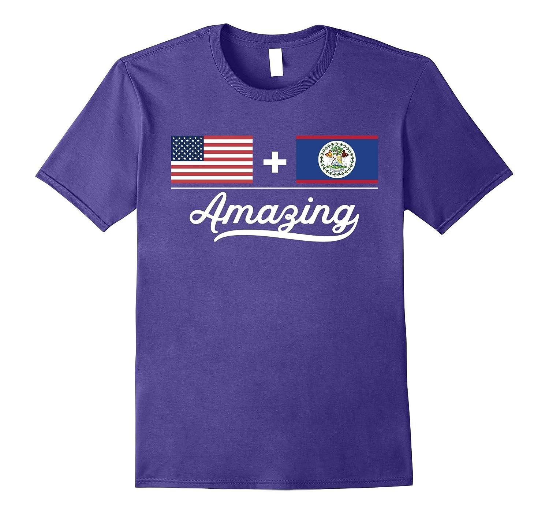 American  Belizean  Amazing Flag T-Shirt-Vaci
