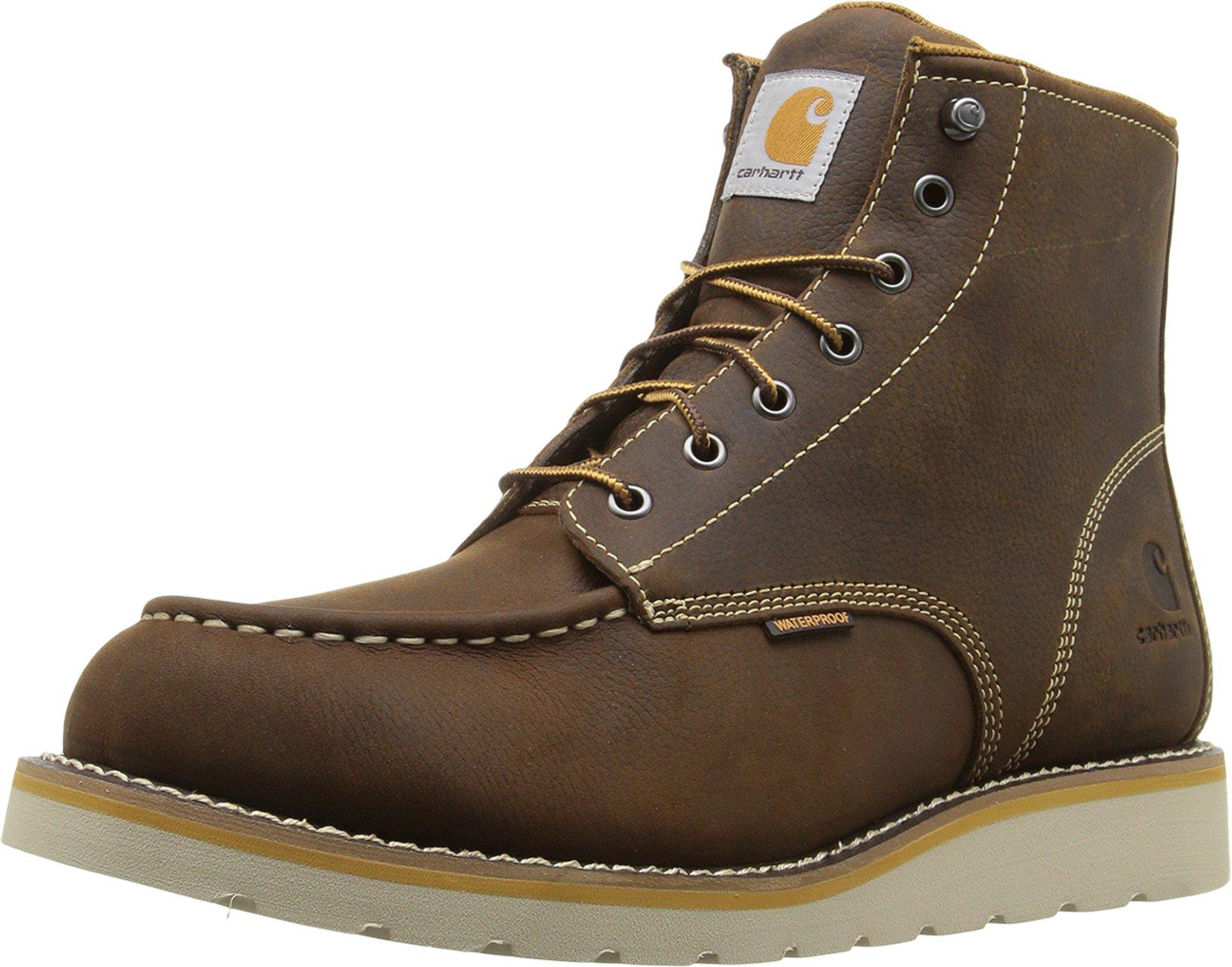 Carhartt Men's 6'' Waterproof Wedge Boot Brown Oil Tanned Leather 15 EE US
