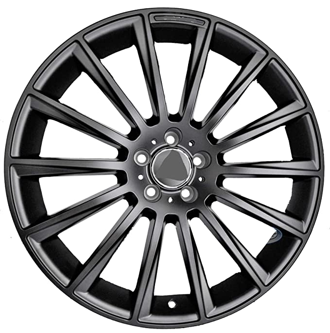 Amazon Com 18 Inch Black Staggered Wheels Rims Full Set Of 4 Fit