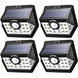 Litom Solar Lights Outdoor, Wireless 20 LED Motion Sensor Solar Lights with Wide Lighting Area, IP65 Waterproof Security Lights for Porch, Deck, Backyard, Front Door, Garage (4 Pack)