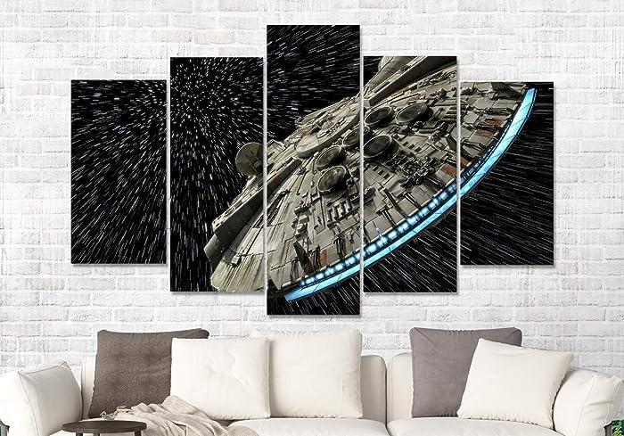 b4a4d534144 Amazon.com  Star Wars Millennium Falcon Movie CANVAS PRINT Multi ...
