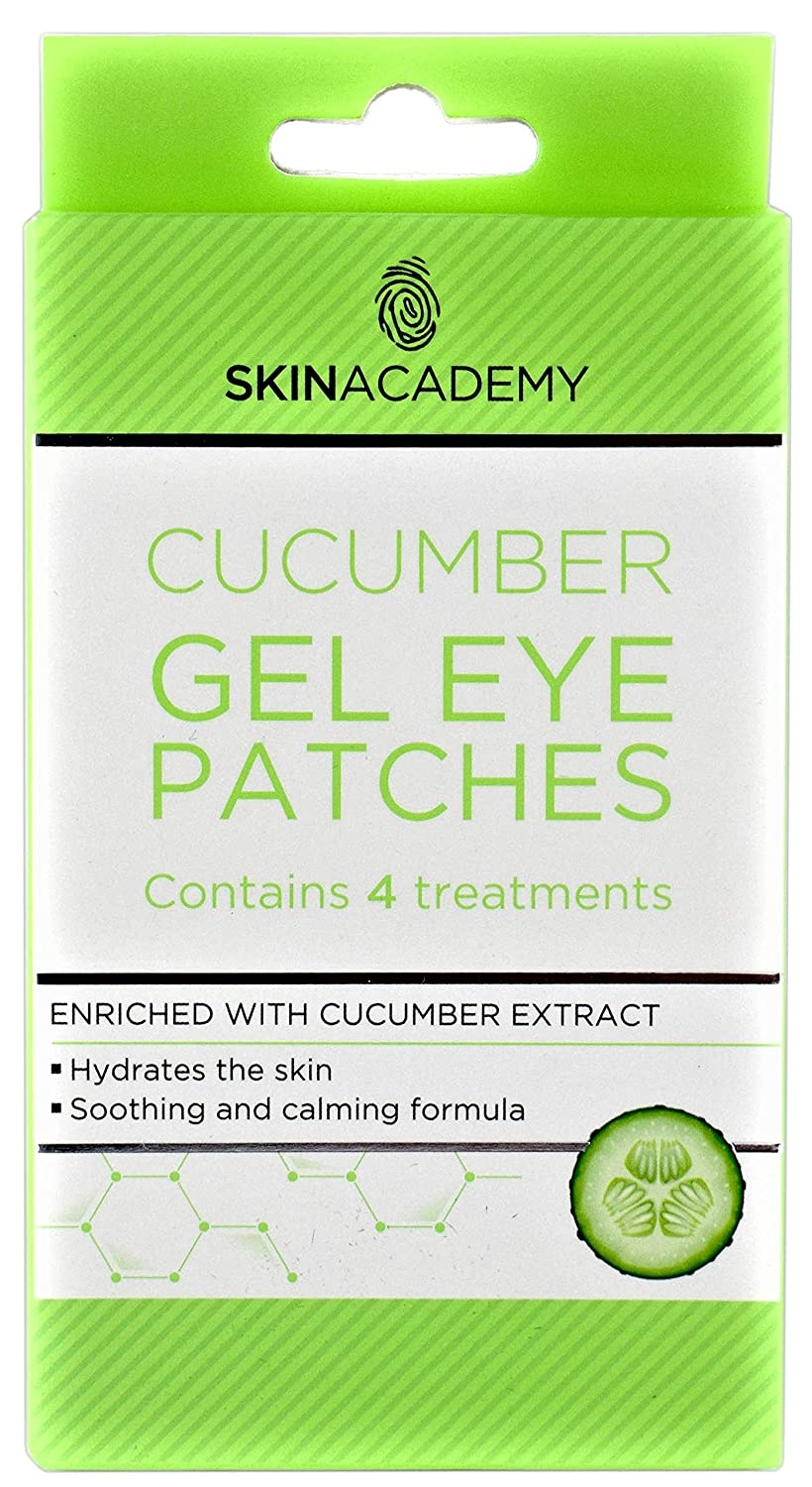 Skin Academy Gel Eye Patches Cucumber 4 Treatments Quest