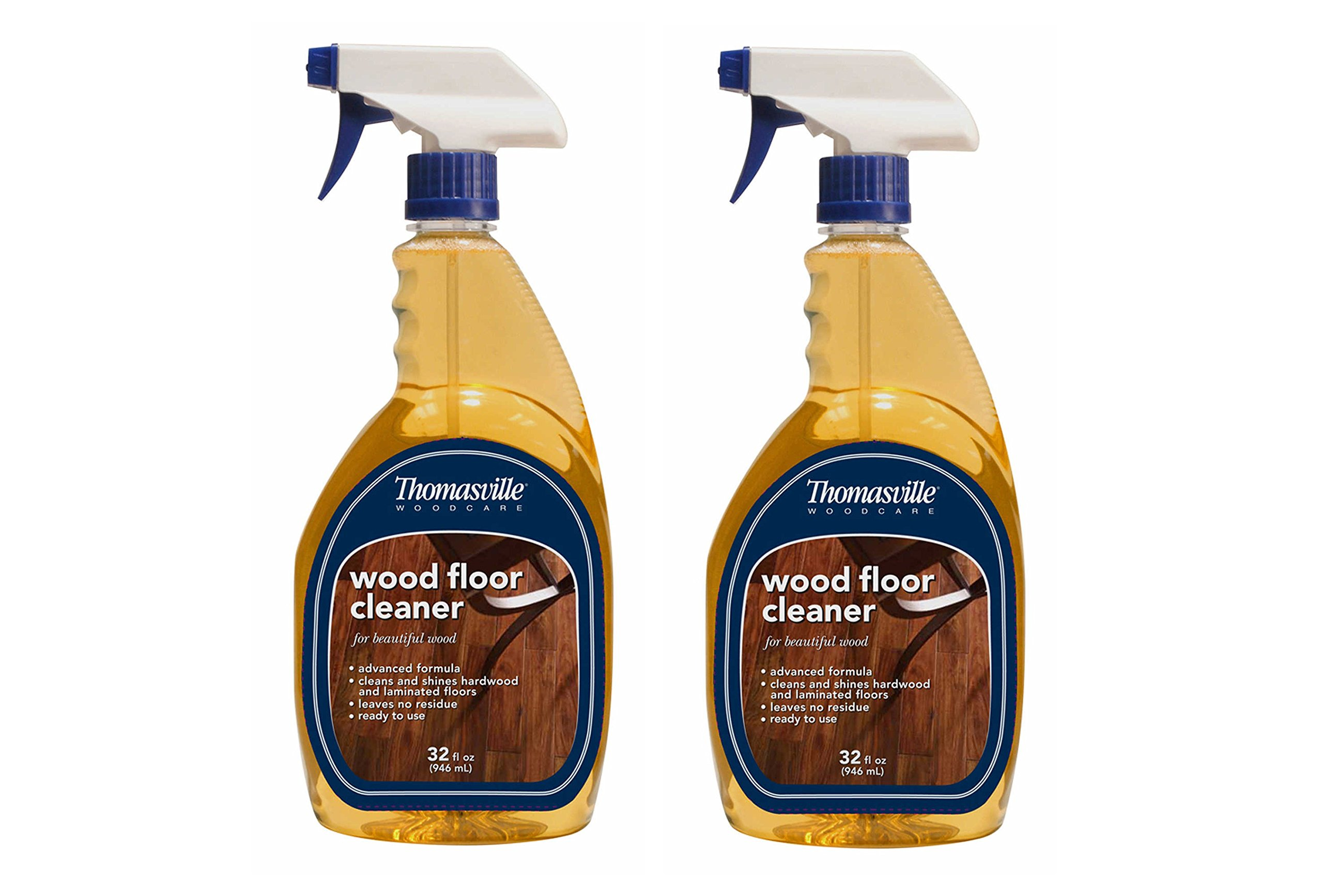 Thomasville Wood Floor Cleaner 32 Oz Spray Bottle Dries without streaking (Pack of 2) Made in USA