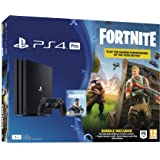 Sony PlayStation 4 PRO 1TB Console with 1 Dual Shock4 Wireless Controller and Fortnite Royal Bomber Pack - Black