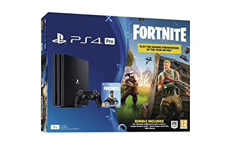 PlayStation 4 Pro Console 1TB with Fortnite Royal Bomber