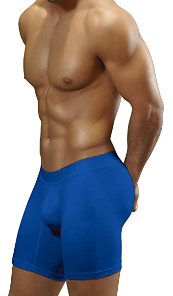 Boxers Colombianos Geordi 5175 Mens Long Boxer Briefs Underwear Azul Fuerte S