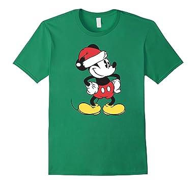 mens disney santa clause mickey mouse christmas t shirt 2xl kelly green