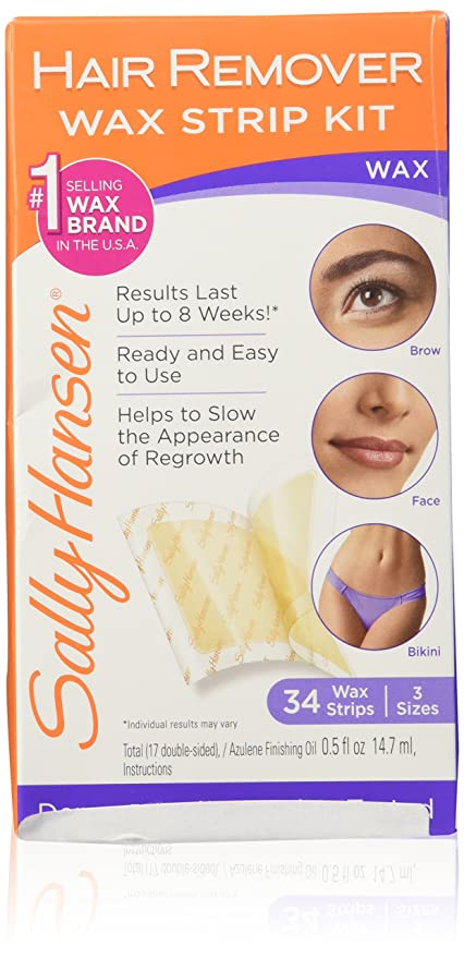 Amazon Sally Hansen Hair Remover Wax Strip Kit For The Face