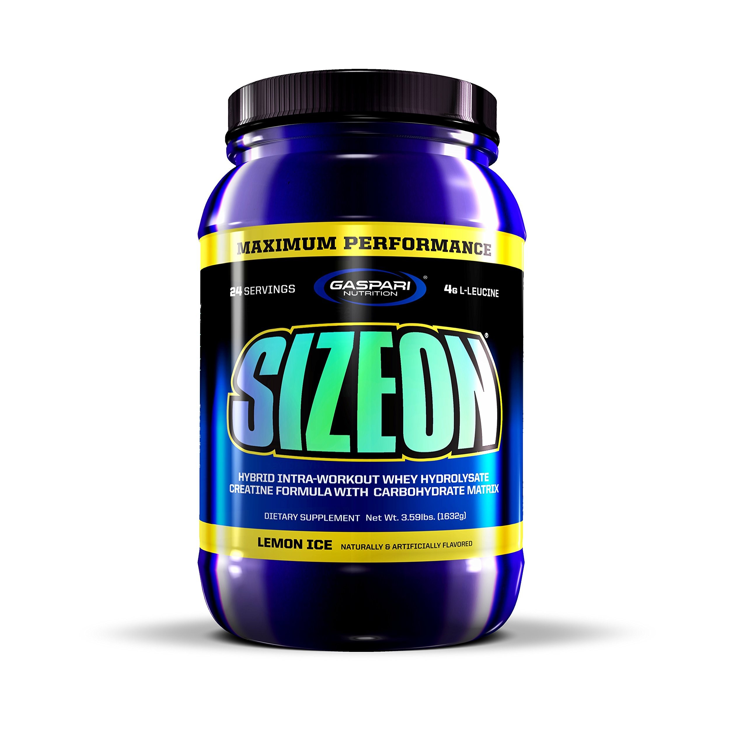 Gaspari Nutrition Sizeon Maximum Performance, Arctic Lemon Ice, 3.59-Pounds