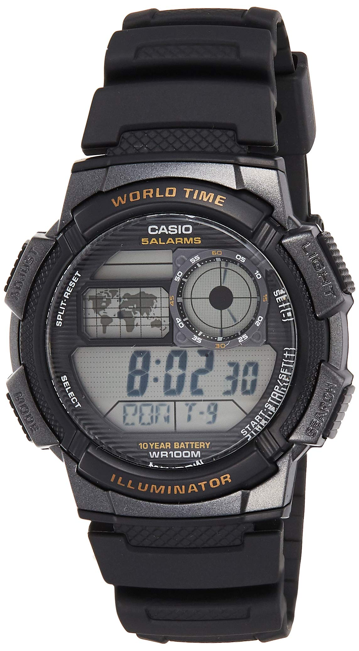 Casio Men's AE-1000W-1AVCF Resin Sport Watch with Black Band by Casio