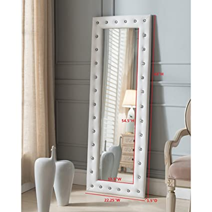 White full length mirror Cheap Image Unavailable Image Not Available For Color Full Length Mirror Amazoncom Amazoncom Full Length Mirror With Faux Leather Tufted Crystal