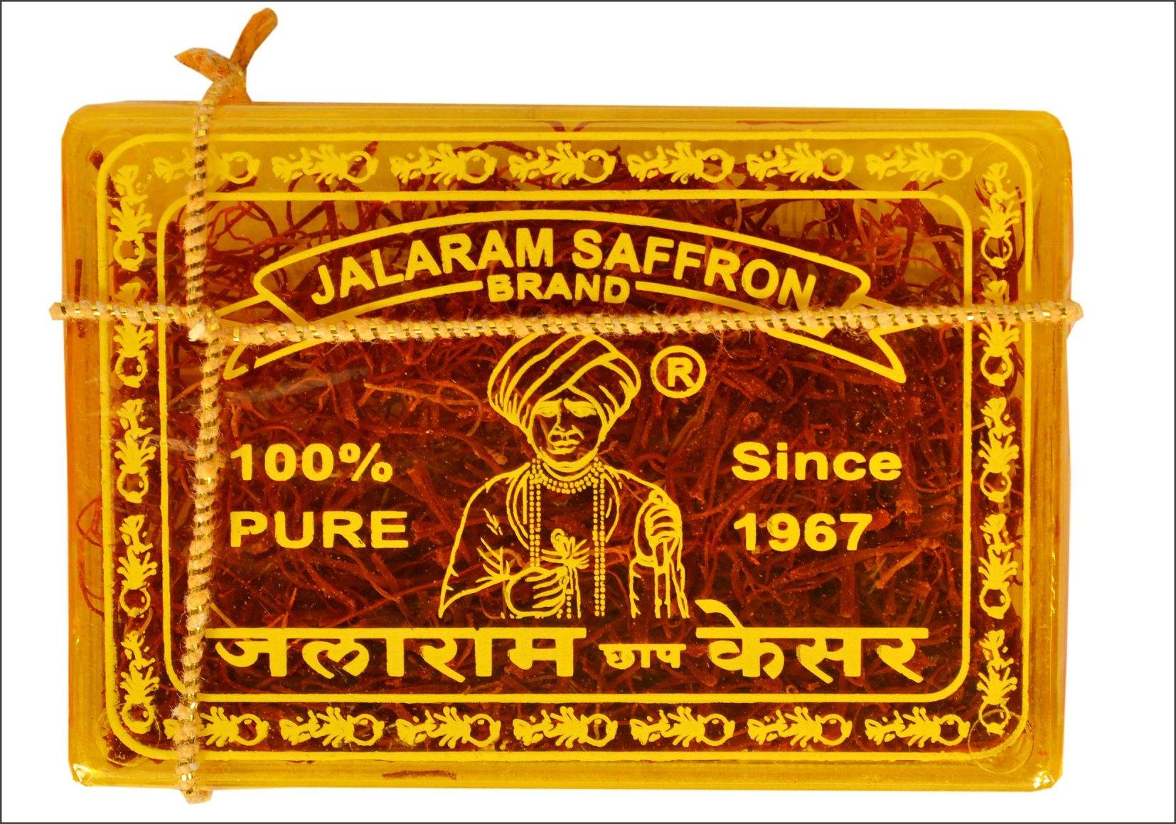 Jalaram Brand Saffron (Kesar) 100% Pure & Natural, 2 Gram
