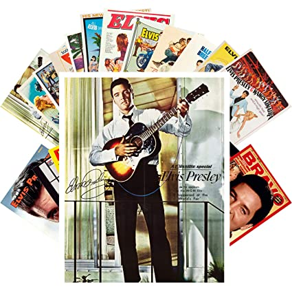 Postcard Set 24 cards ELVIS PRESLEY Vintage Magazine Covers Movie Posters  Rock n Roll Music
