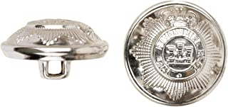 product image for C&C Metal Products 5024 Devonshire Metal Button, Size 45 Ligne, Nickel, 36-Pack