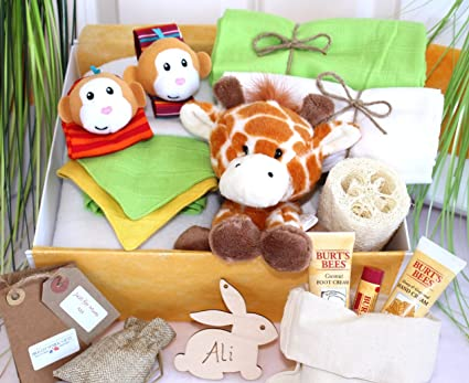 Safari Friends - Cesta de regalo para bebé unisex, caja de regalo ...