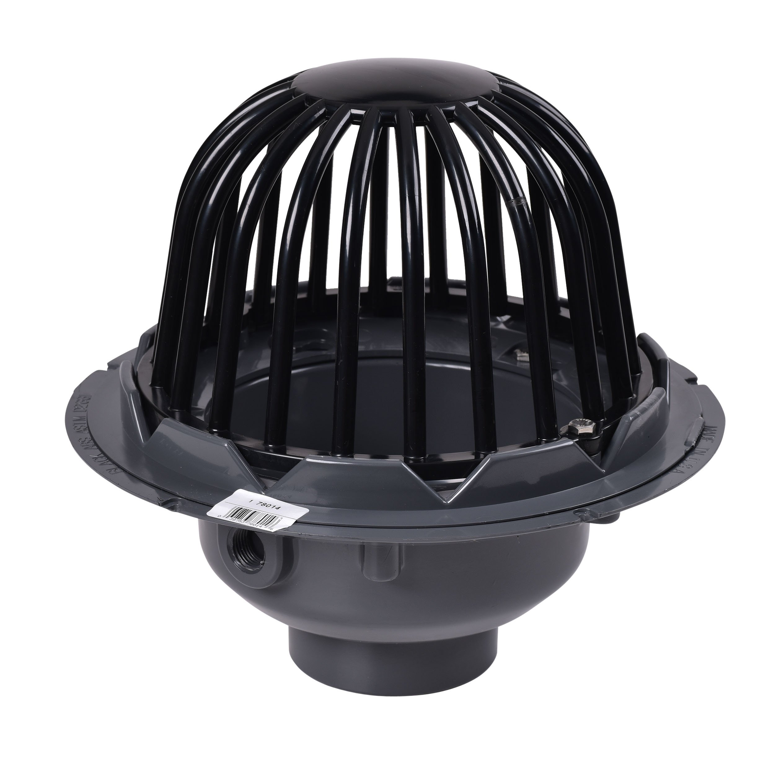 oatey 78014 pvc roof drain with plastic dome 4 inch - Roof Drains