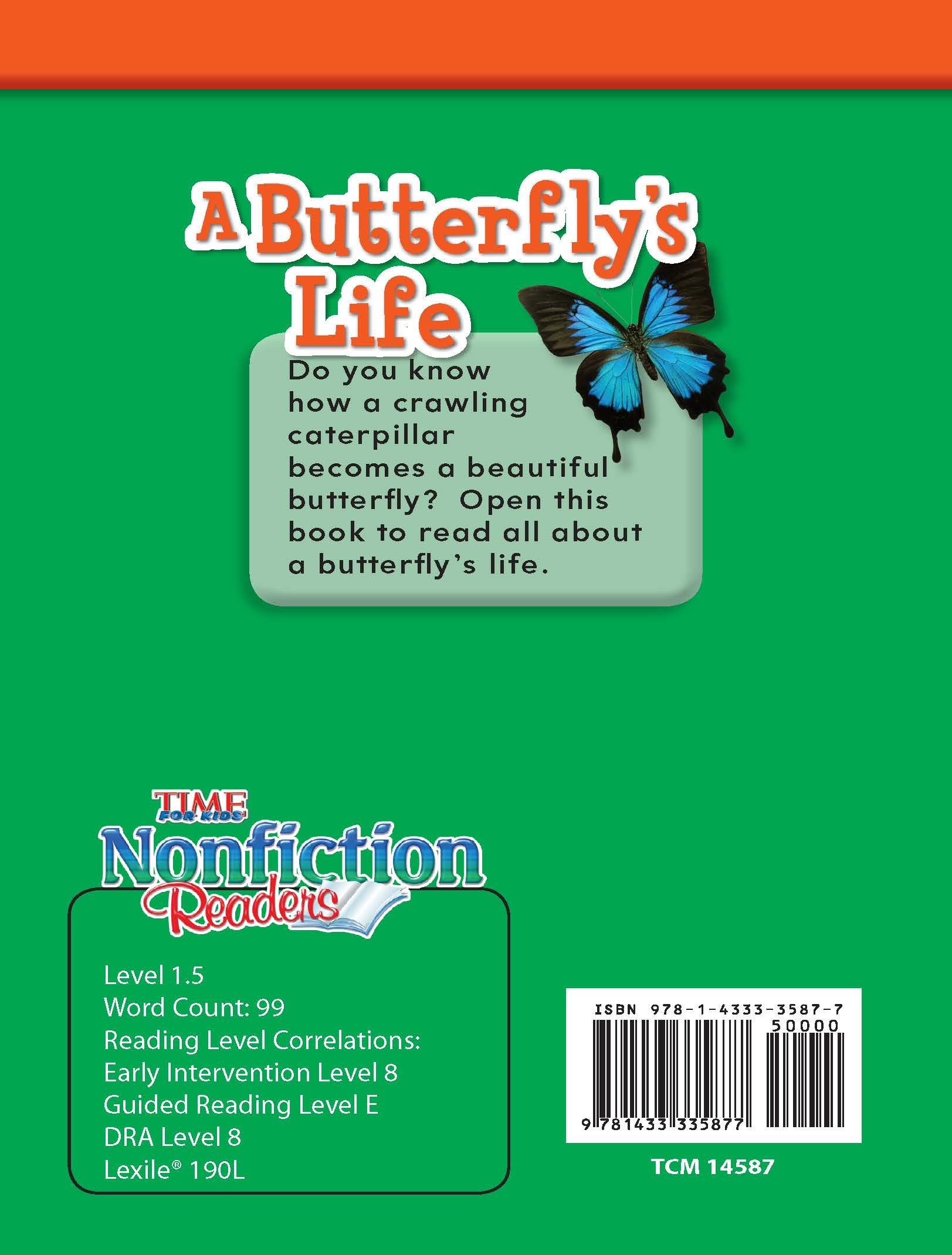 Amazon: A Butterfly's Life (time For Kids� Nonfiction Readers)  (9781433335877): Teacher Created Materials;dona Herweck Rice: Books