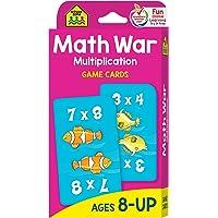 (Math War Multiplication - Ages 8+) - School Zone Publishing SZP05032 Math War Multiplication Game Cards