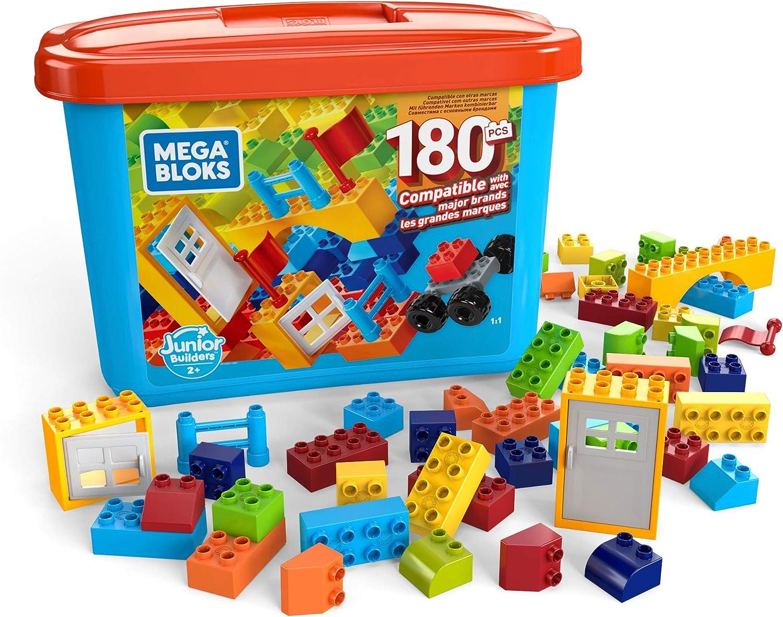 Mega Bloks Caja de 180 bloques de construcción, juguetes niños +2 años (Mattel GJD22): Amazon.es: Juguetes y juegos