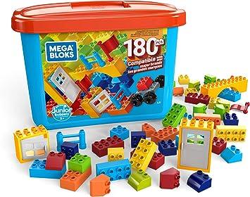 Mega Bloks Caja de 180 bloques de construcción, juguetes niños +2 ...