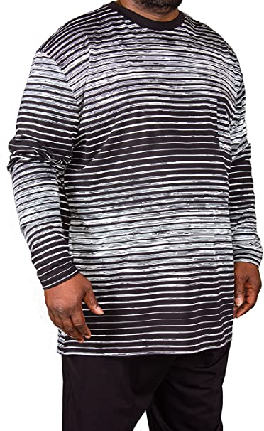Pijama de tallas grandes, marca Espionage, para hombre con diseño a rayas, 2XL, 3XL, 4XL, 5XL, 6XL, 7XL, 8XL