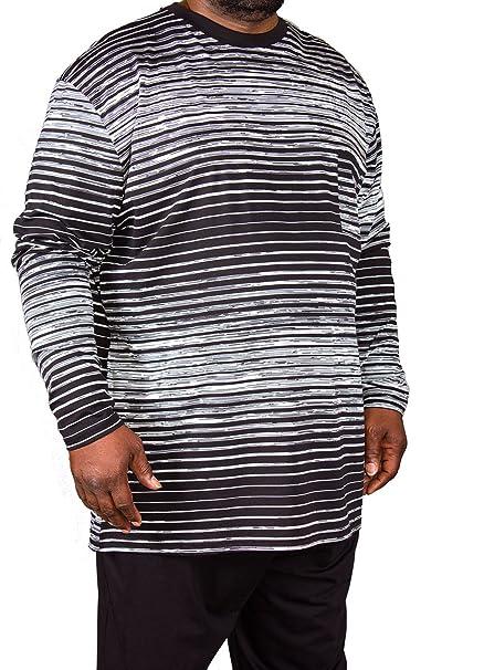 Pijama de tallas grandes, marca Espionage, para hombre con diseño a rayas,