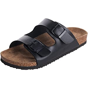 bd52cdd0484aee WTW Men s Arizona 2-Strap PU Leather Platform Sandals
