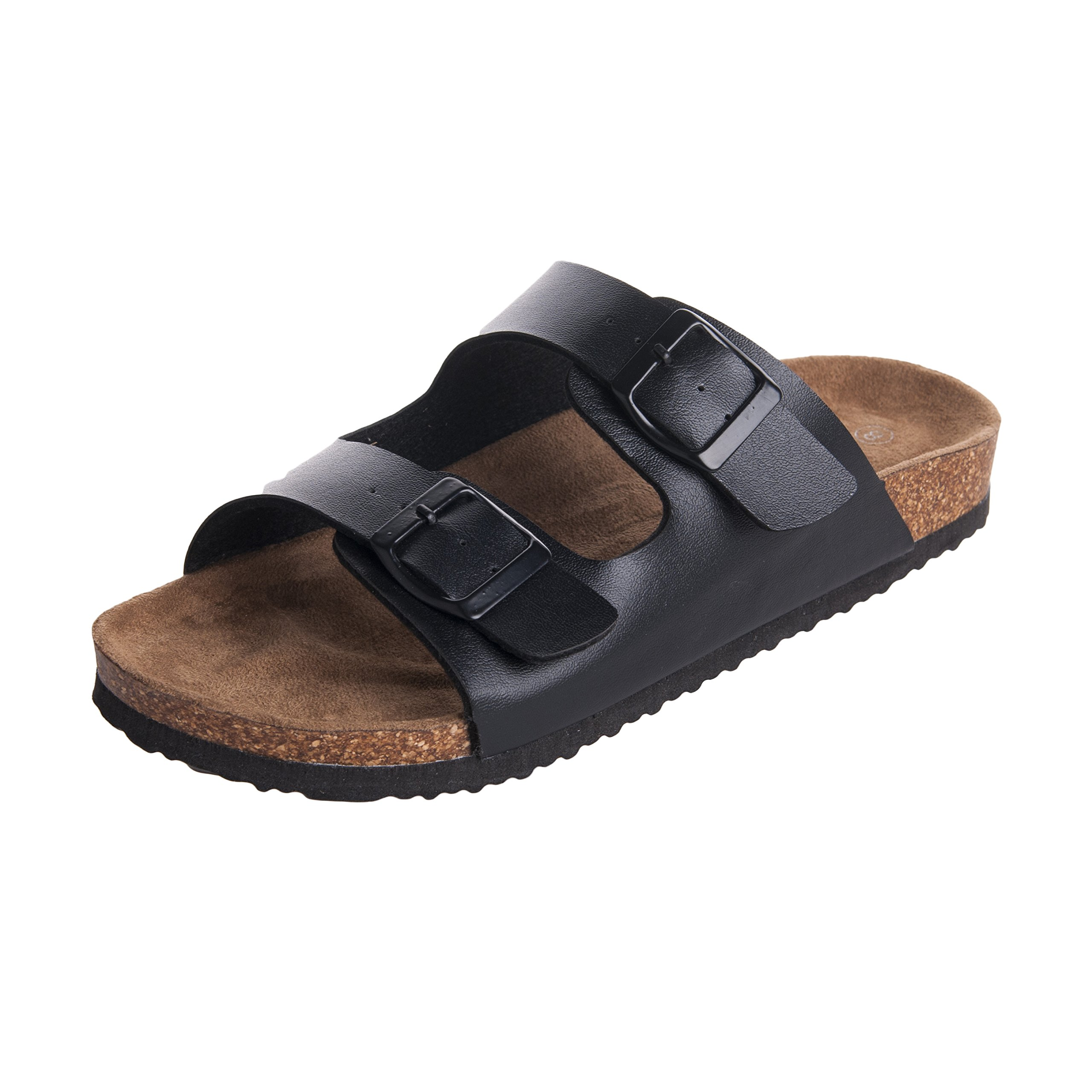 WTW Men's Arizona 2-Strap Cork Footbed Sandal Size 11 Black by WTW