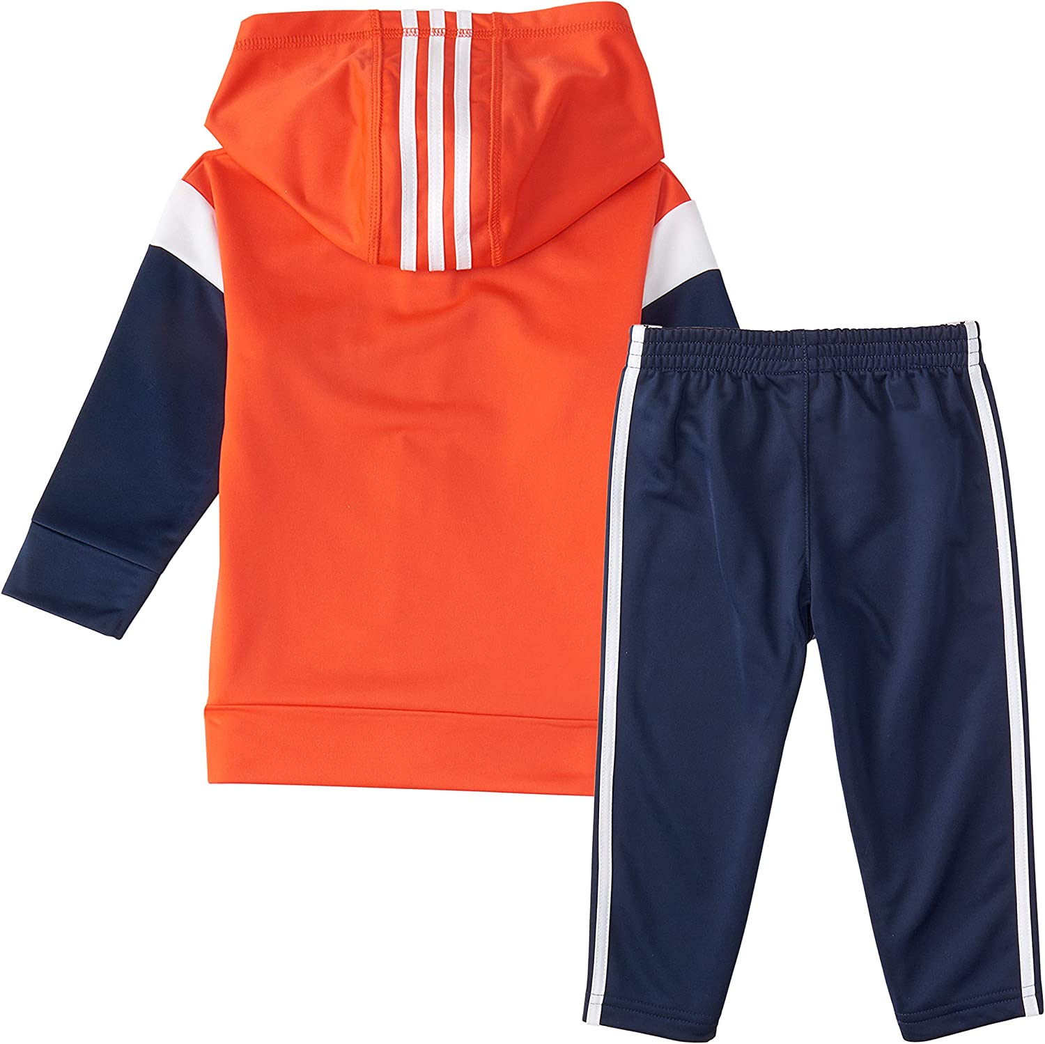 adidas Baby Boys Lil Sport Hooded Tricot Jacket /& Jogger Clothing Set
