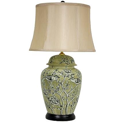 Amazon.com: Oriental Muebles lámpara de mesa de pájaros y ...