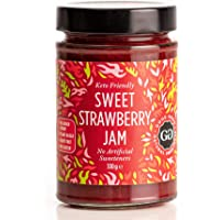 Sweet Strawberry Jam by Good Good - 12 oz / 330 g - Keto Friendly No Added Sugar Strawberry Jam - Keto - Vegan - Gluten…