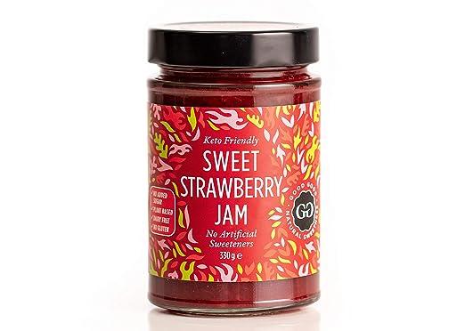 Sweet Jam With Stevia By Good Good   12 Oz / 330 G   No Added Sugar Strawberry Jam   Keto   Vegan   Gluten Free   Diabetic (Strawberry) by Good Good
