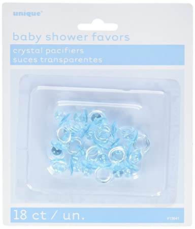 Amazon.com: Blue Pacifier Boy Baby Shower Favor Charms, 18ct ...
